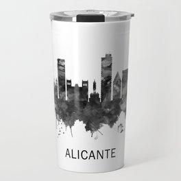 Alicante Spain Skyline BW Travel Mug