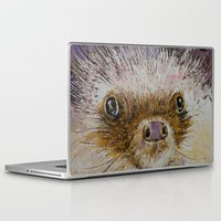 hedgehog Laptop & iPad Skins featuring Hedgehog by Michael Creese