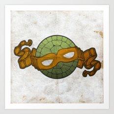 The Orange Turtle Art Print