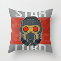starlord Throw Pillows featuring Who? by Chloe Christine