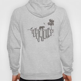 Duality – The opposite ends of our earth reflection Nature Modernity Hoody