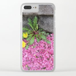 Dandelion in Pink Clear iPhone Case