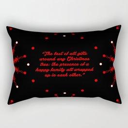 "The best of... ""Burton Hills"" Christmas Quote Rectangular Pillow"