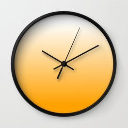 Orange Squash Ombre Wall Clock