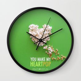 You Make My Heart Pop! Wall Clock