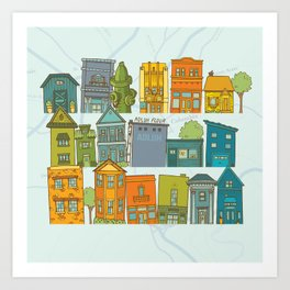 Columbia, SC Art Print