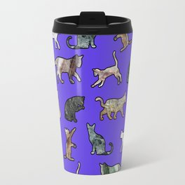 Marble Cats Ultraviolet Travel Mug
