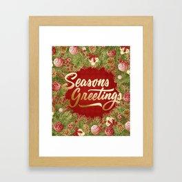 Holiday Greetings 7 Framed Art Print