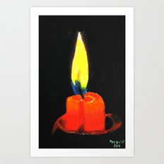Candle in the night Art Print