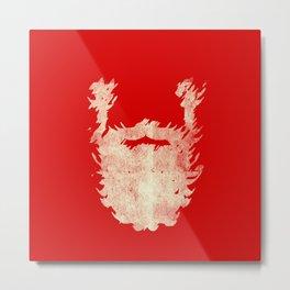 Santa Beard 2 Metal Print