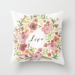 corona live Throw Pillow