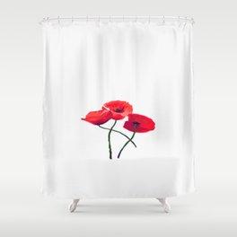 Three Poppies Shower Curtain