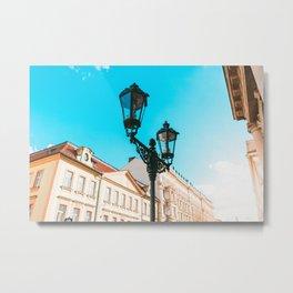 Old Street Lights in Prague Metal Print