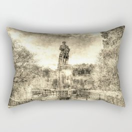 Allan Ramsey And Edinburgh Castle Vintage Rectangular Pillow