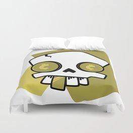 Golden Skull Duvet Cover