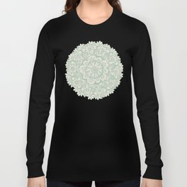 Sage Medallion with Butterflies & Daisy Chains Long Sleeve T-shirt