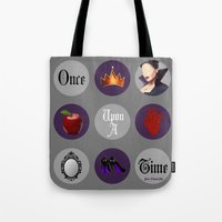 regina mills Tote Bags featuring Once Upon A Time, Regina Mills by Your Friend Elle