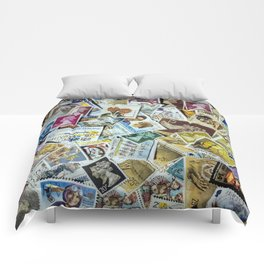 Postage Stamp Collection Comforters