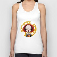 pennywise Tank Tops featuring Pennywise Cheese by ajd.abelita