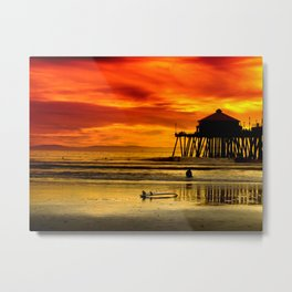 Califronia Sunset Metal Print