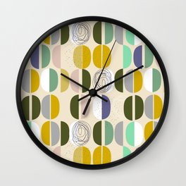 Semicircles - so simple and so cool Wall Clock