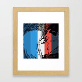 French Love Pop Art Framed Art Print