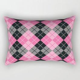 Pink Argyle Rectangular Pillow