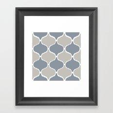 MARRAKECH PATTERN GreyBlue Framed Art Print