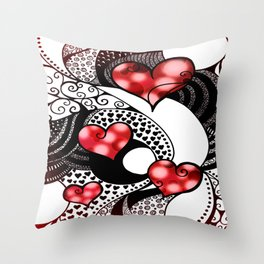 Tangled in Love Throw Pillow