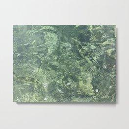 Marbled effect water Metal Print