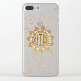VIP - Gold multicolor Clear iPhone Case