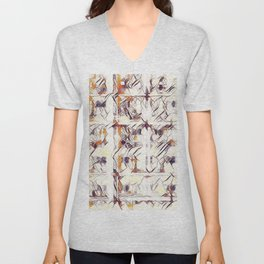 Homage to Kandinsky, with Watercolors Unisex V-Neck