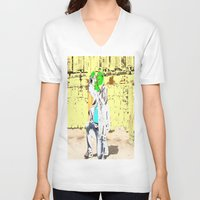 photographer V-neck T-shirts featuring Photographer by lookiz