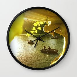 Moments In Central Park  Wall Clock