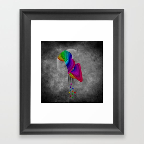 Over the rainbow Framed Art Print