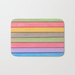 Rainbow Chalks Bath Mat