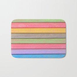 Rainbow Chalks Bath Mat