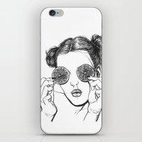 lemon iPhone & iPod Skins featuring Lemon by Cannibal Malabar
