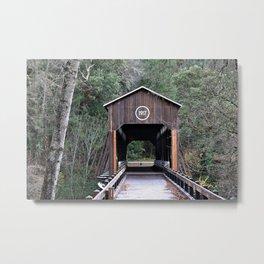1918 Covered Bridge Metal Print