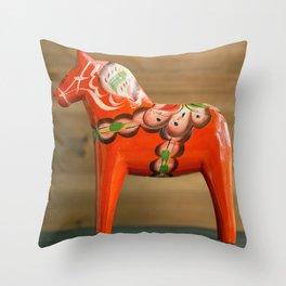 Dala horse - Dalecarlian horse Throw Pillow