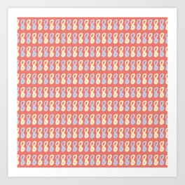 Lettering Number Eight Pattern Art Print