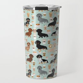 Dachshund coffee lover must have pet gifts dachsie doxie dog weener dog Travel Mug