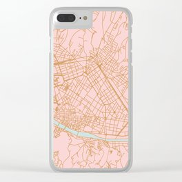 Firenze map Clear iPhone Case