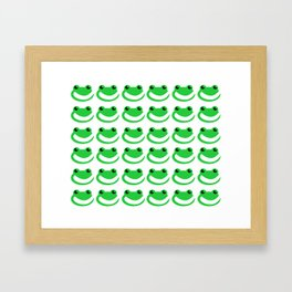 Smug Frogs Framed Art Print