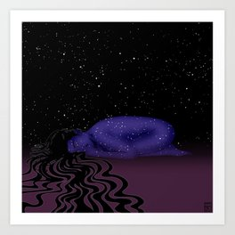 Nuit, The Lady of the Stars Art Print