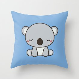 Kawaii Cute Koala Throw Pillow