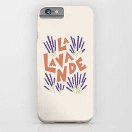 La Lavande French Lavender iPhone Case