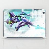 evangelion iPad Cases featuring Evangelion Unit 01 - Shinji Ikari's Ride. The Digital Painting. by Barrett Biggers