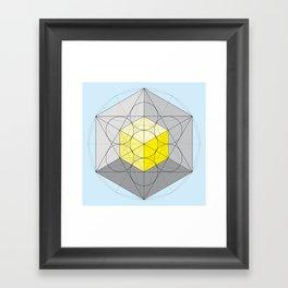Metatron's Cube Var. 1 Framed Art Print