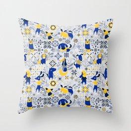 Happy Dog Year Throw Pillow